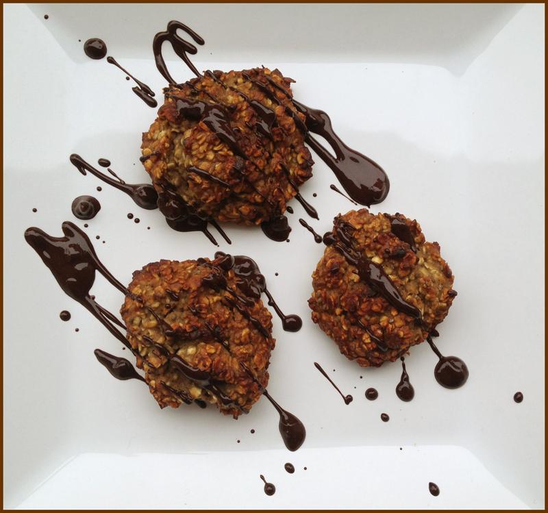 Cookies, proteinreiche Hafercookies, vegan